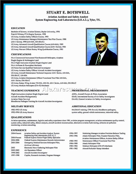 Airline Pilot Resume Template Word by Airline Pilot Resume Template Wordalexa Document