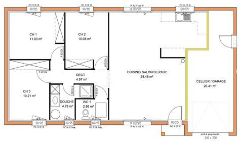 maison 3 chambres plain pied avant projets de construction de maison en loire atlantique