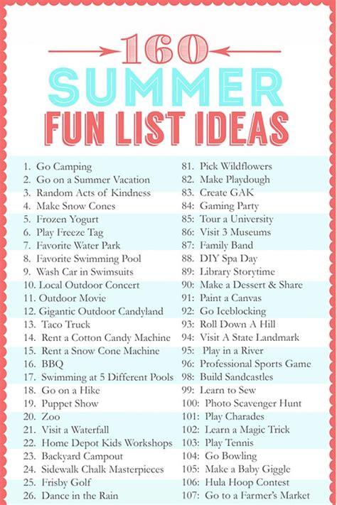 summer fun list ideas  crafting chicks