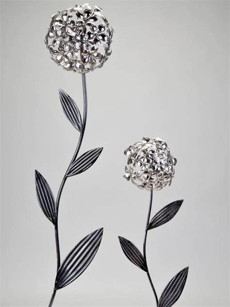 formano wanddeko blume aus metall 60 cm ebay