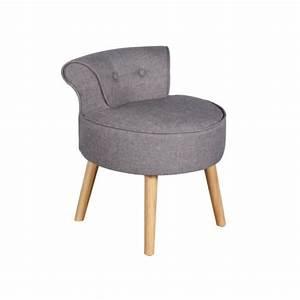 Fauteuil Crapaud Maison Du Monde : petit fauteuil crapaud savea en tissu gris chin achat ~ Melissatoandfro.com Idées de Décoration