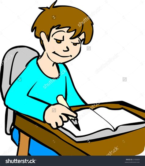 Do Home Work by Someone Doing Homework Clipart Someone Doing Homework
