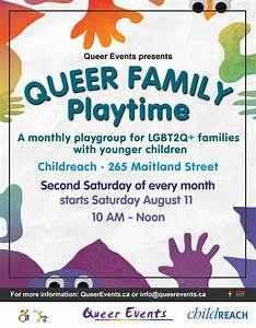 Queer Family Playtime | QueerEvents.ca