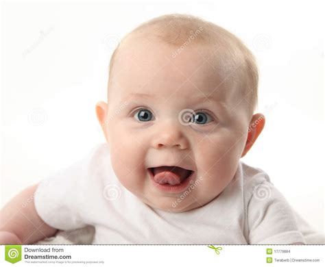 Cute Baby Sticking Tongue Out Stock Images Image 17779884
