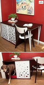 Desk with hidden dog crate home sweet home pinterest for Desk dog crate