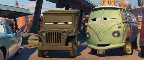 cars sarge and fillmore cars 3 disney 39 s world of wonders