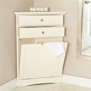 Tall Corner Bathroom Cabinet White by Corner Laundry Hamper As The Perfect Solution Homesfeed