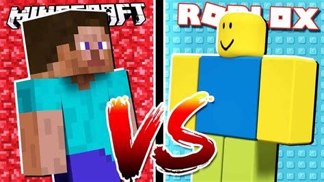 Roblox Noob Vs Minecraft Noob!