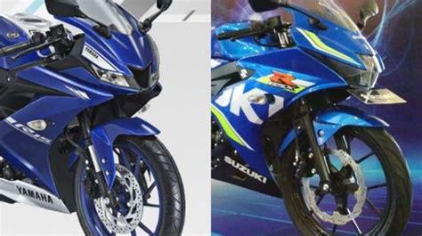 Suzuki Gsx R150 Picture by Perang Yamaha All New R15 Versus Suzuki Gsx R150 Pilih Mana