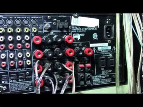 yamaha receiver how to hook up home theater speakers wire youtube