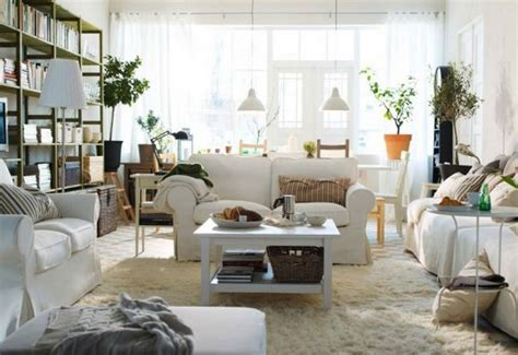 ikea living room design ideas 2013 white sofas furry rug