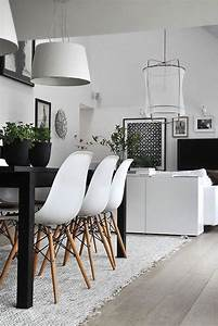 10 modern black and white dining room sets that will for Modern dining room black and white