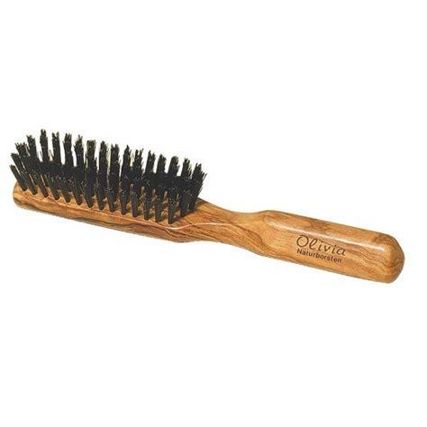 brosse 224 cheveux plate en bois olivier redecker