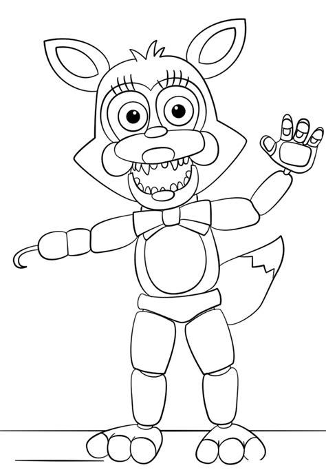 Five Nights At Freddys Kleurplaat Foxy free printable five nights at freddy s fnaf coloring pages
