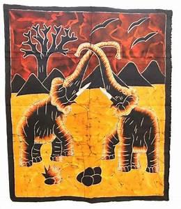 Afro Craft Tenture Murale Batik Tissus Africain