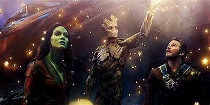 Guardians Galaxy Starlord Marvel Gamora Groot Gifs