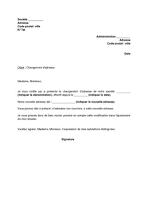changement siege social sci lettre de notification de changement d 39 adresse de la