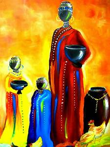 Art-3000: Picture African mother and children
