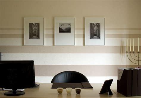 wand streichen ideen wohnzimmer beige stripes on the wall office interior design