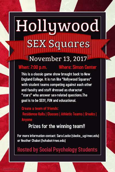 Hollywood Sex Squares New England College