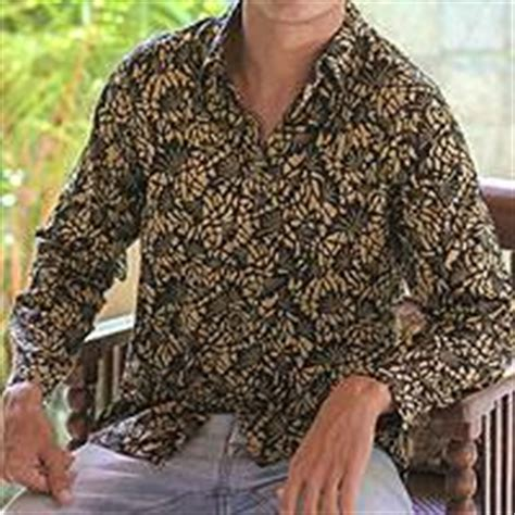 unicef uk market mens cotton batik shirt autumn night