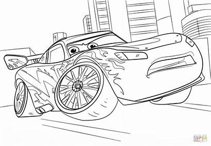 Mcqueen Coloring Lightning Cars Lighting Printables Pages