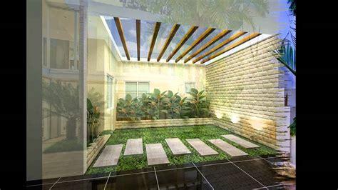 konsep desain taman kecil didalam rumah minimalis pt