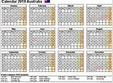 Free Printable Calendar 2019 with Australia Holidays
