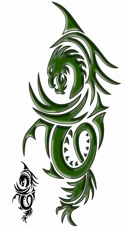 Dragon Tattoo Clipart Naga Drawings Simple Tattoos