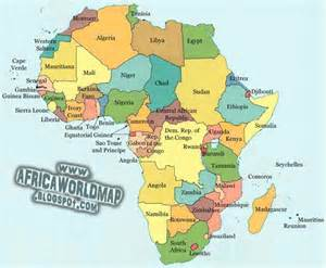 Africa World Map Continents