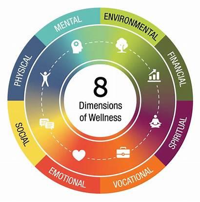 Wellness Dimensions Physical Spiritual Mental Wheel Emotional