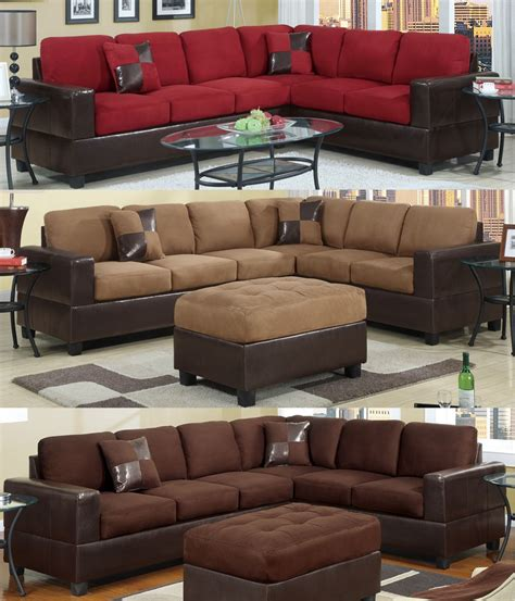 two sofa living room sectional sofa furniture microfiber sectional couch 2 pc