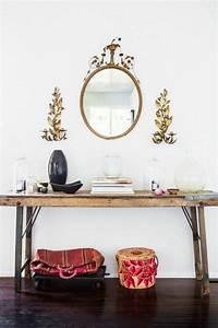 Runder Wandspiegel Holz : den kleinen flur gestalten 25 stilvolle einrichtungsideen flur pinterest ~ Frokenaadalensverden.com Haus und Dekorationen