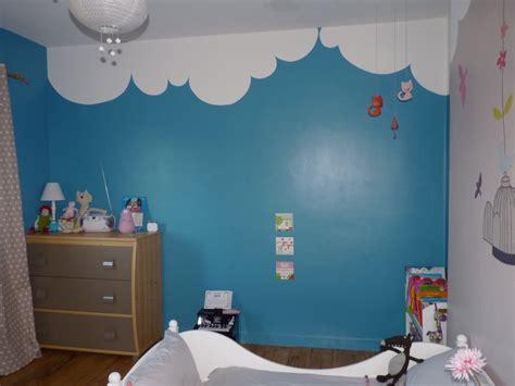 chambre en bleu décoration chambre fille bleu