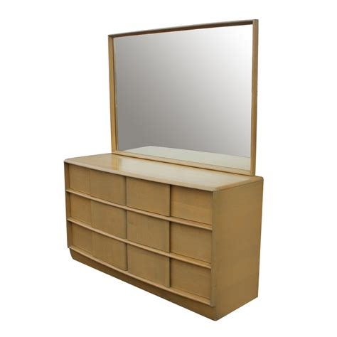 Heywood Wakefield Dresser With Mirror vintage heywood wakefield mr mrs dresser mirror m5774 ebay