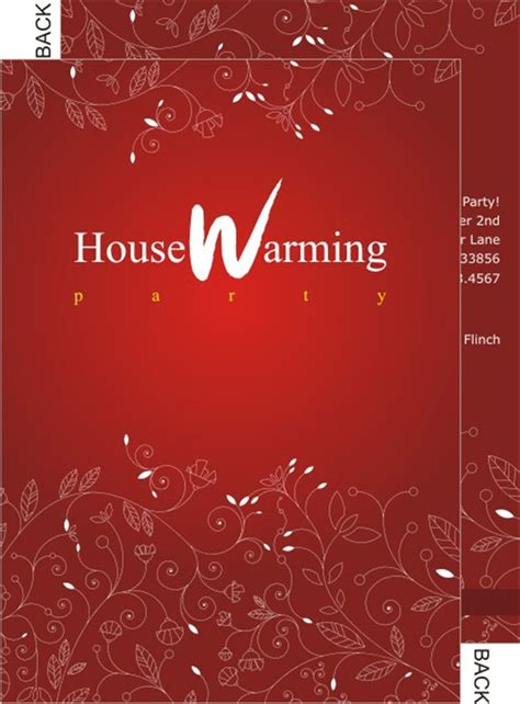 house template for photo card housewarming invitation cards designs