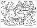 Desserts Pages Coloring sketch template