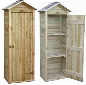 Petite Armoire De Rangement : petite armoire de jardin en pin 181x63x43cm sur jardindeco ~ Dailycaller-alerts.com Idées de Décoration