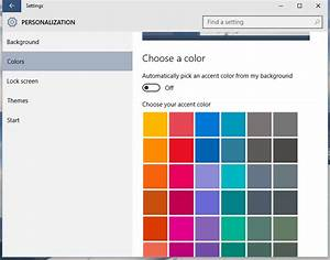 Add a custom color for taskbar to Windows 10 Settings app