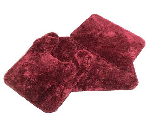 royale merlot burgundy bath rug ensemble bedbathhomecom