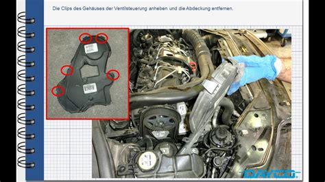montage steuerriemenkit volvo xc  diesel motor