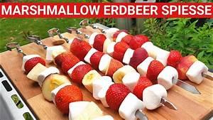 Spieße Selber Machen : grillblitz marshmallow erdbeer spie e perfekt vom gasgrill bbq tutorial fruchtspiesse ~ Watch28wear.com Haus und Dekorationen