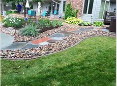 Flagstone Pathway with River Rock edging
