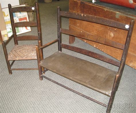 Settees And Benches by Small Shaker Settee Bench And Chair Sale Number 2669m
