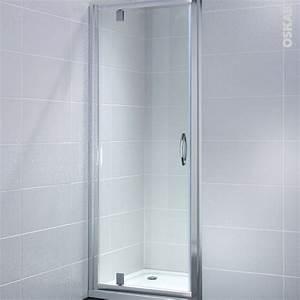 porte de douche pivotante olympe 80 cm verre transparent With porte douche pivotante 80