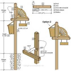 wood mailbox post plans