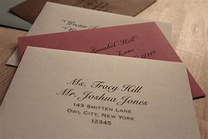 addressing invitations my wedding bag With addressing wedding invitations one envelope etiquette
