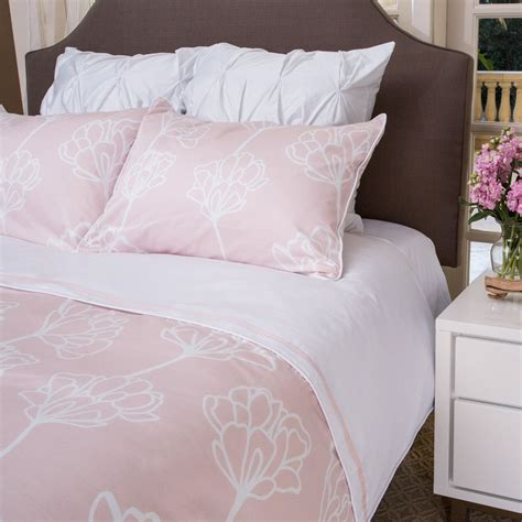 Pink And White Duvet Set by The Mariposa Blush Pink From Crane And Canopy It For