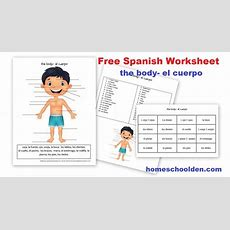 Free Spanish Worksheet Parts Of The Body  El Cuerpo  Homeschool Den
