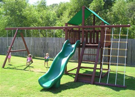 backyard jungle metal trailblazer swing set fort kit easy to build 3d plans